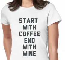 Start With Coffee Womens Fitted T-Shirt