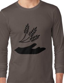 Outstretched Hand and Wheat Long Sleeve T-Shirt