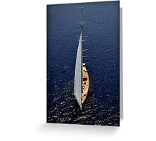 aerial sailboat photography Greeting Card