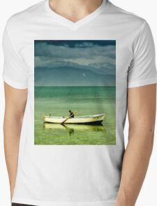 boat in egirdir lake Mens V-Neck T-Shirt