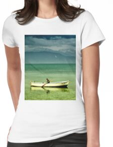 boat in egirdir lake Womens Fitted T-Shirt