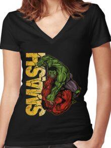 Smash Women's Fitted V-Neck T-Shirt