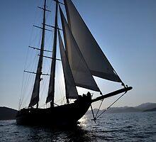 big sailboat sailing by laikaincosmos