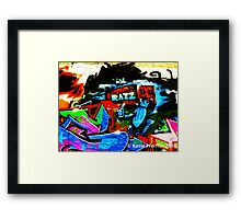 Graffiti Wall  Razz Philly Framed Print