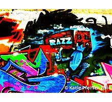 Graffiti Wall  Razz Philly Photographic Print