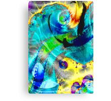 abstract blue and yellow Canvas Print