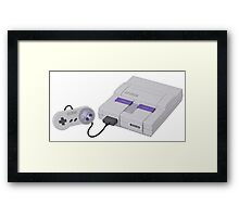 Super Nintendo Entertainment System Framed Print