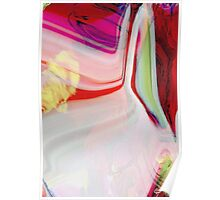 abstract pink and red Poster