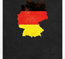 Germany Minimalist Vintage Map with Flag by FinlayMcNevin