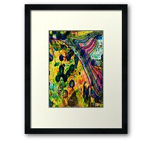 abstract original colours Framed Print