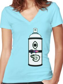 Illegal Characters Women's Fitted V-Neck T-Shirt