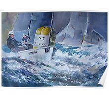Sailing Around The Buoy - Boats Art Gallery Poster