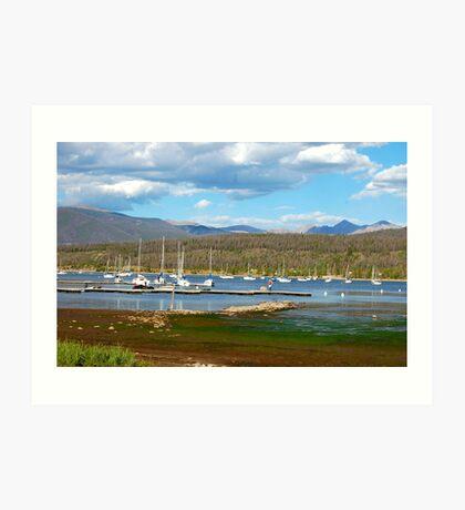 Boats Docked in Colorado Art Print