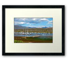 Boats Docked in Colorado Framed Print