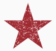 Vintage Style Red Star Shirt Grunge Kids Clothes