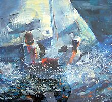 Leading The Race - Sailing & Boats Art Gallery by Ballet Dance-Artist