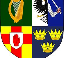 Arms of Four Provinces of Ireland  by abbeyz71