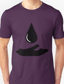 Outstretched Hand and Water Droplet  Unisex T-Shirt