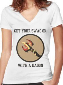 Get Your Swag on With a Dagon Women's Fitted V-Neck T-Shirt