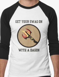 Get Your Swag on With a Dagon Men's Baseball ¾ T-Shirt