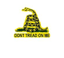Don't Tread On Me Gadsden Flag American Flag  Photographic Print