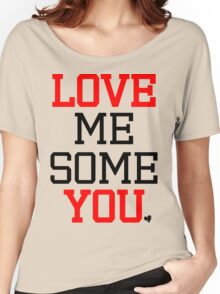 Love Me Some You [Red Black] Women's Relaxed Fit T-Shirt
