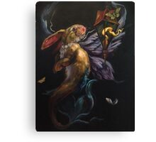 Moth and Flame Canvas Print