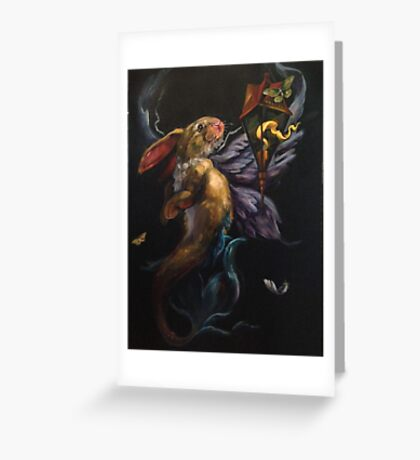 Moth and Flame Greeting Card