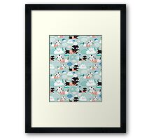 funny texture of the kittens Framed Print