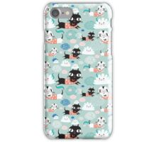 funny texture of the kittens iPhone Case/Skin