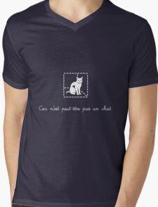 Le Chat de Schrödinger Mens V-Neck T-Shirt