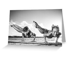 Dwi Pada Koundinyasana for 2  Greeting Card