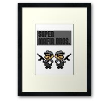 Super Mafia Bros  Framed Print