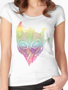 rainbow alien swamp monster Women's Fitted Scoop T-Shirt