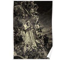 Festival Parade Efigy - Monochrome Poster