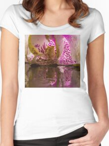 Rainy Orchid Women's Fitted Scoop T-Shirt