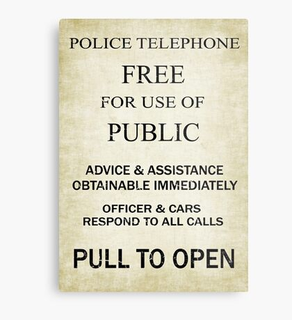 Free For Use Of Public - Tardis Door Sign, (please see notes) Metal Print