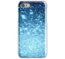 Ice Blue Stars Ombre iPhone Case/Skin