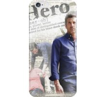 Greys Anatomy - McDreamy hero phone case (full) iPhone Case/Skin
