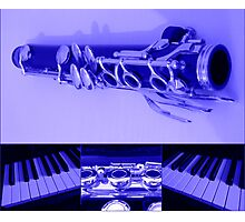 Kind Of Blue Musical Collage Photographic Print