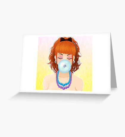 Cheveux Rouge Greeting Card