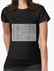 Civil War Maps 1809 The Tribune war maps Womens Fitted T-Shirt