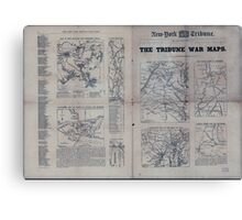 Civil War Maps 1809 The Tribune war maps Canvas Print