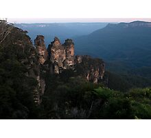Blue Mountains - The Three Sisters View01 Photographic Print