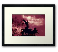 HE IS COMING Framed Print