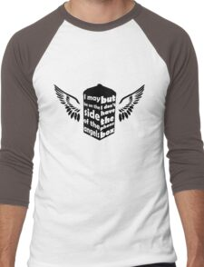 I may be on the side of the angels (Black) Men's Baseball ¾ T-Shirt