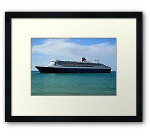 The Queen Mary 2  Framed Print
