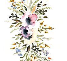 Watercolor flowers by Julia Hromova
