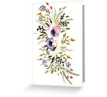Watercolor flowers Greeting Card