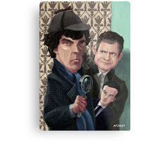 Sherlock Homes Watson and Moriarty at 221B Metal Print